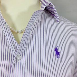 Ralph Lauren: Size 6, Collared, 1/2 Sleeve Top